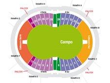 План схема стадиона Сьюдад де Ла-Плата, Ла-Плата (Estadio Ciudad de La Plata)