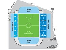План схема стадиона Хосе Амальфитани, Буэнос-Айрес (Estadio José Amalfitani seating plan)