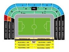План схема стадиона Бомбонера, Буэнос-Айрес (La Bombonera seating plan)